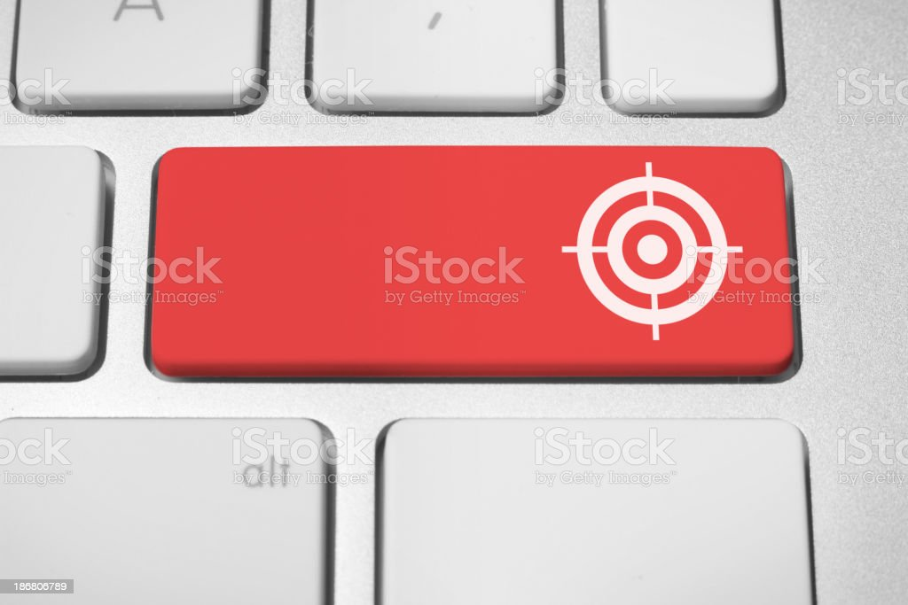 Copyspace business target button stock photo