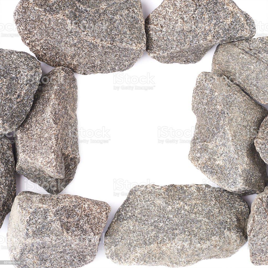 Copyspace frame made of granite stones stock photo