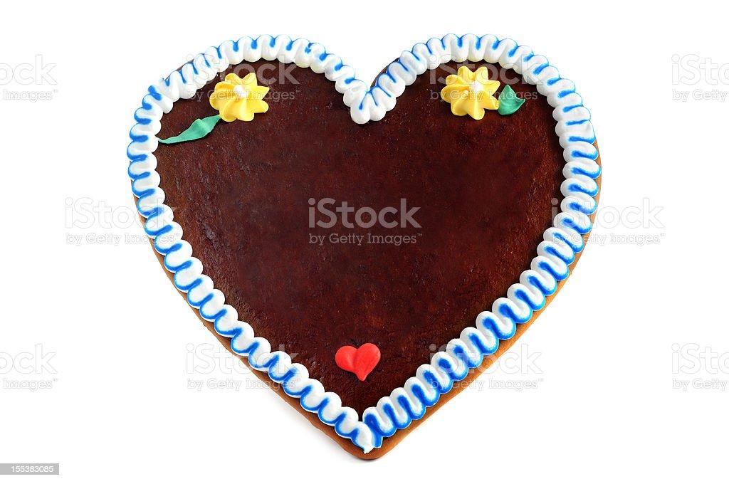 copyspace gingerbread cookie heart stock photo