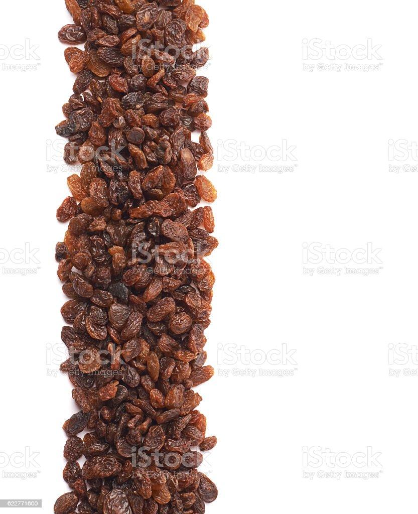 Copyspace raisins background composition stock photo
