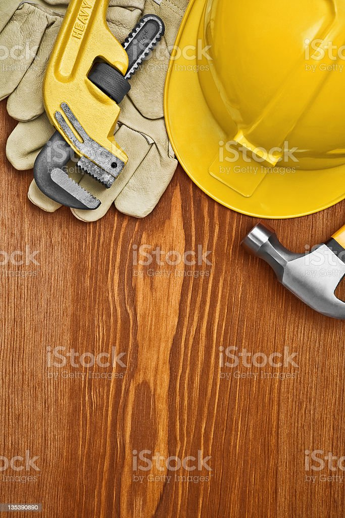 copyspace view on the working tools royalty-free stock photo
