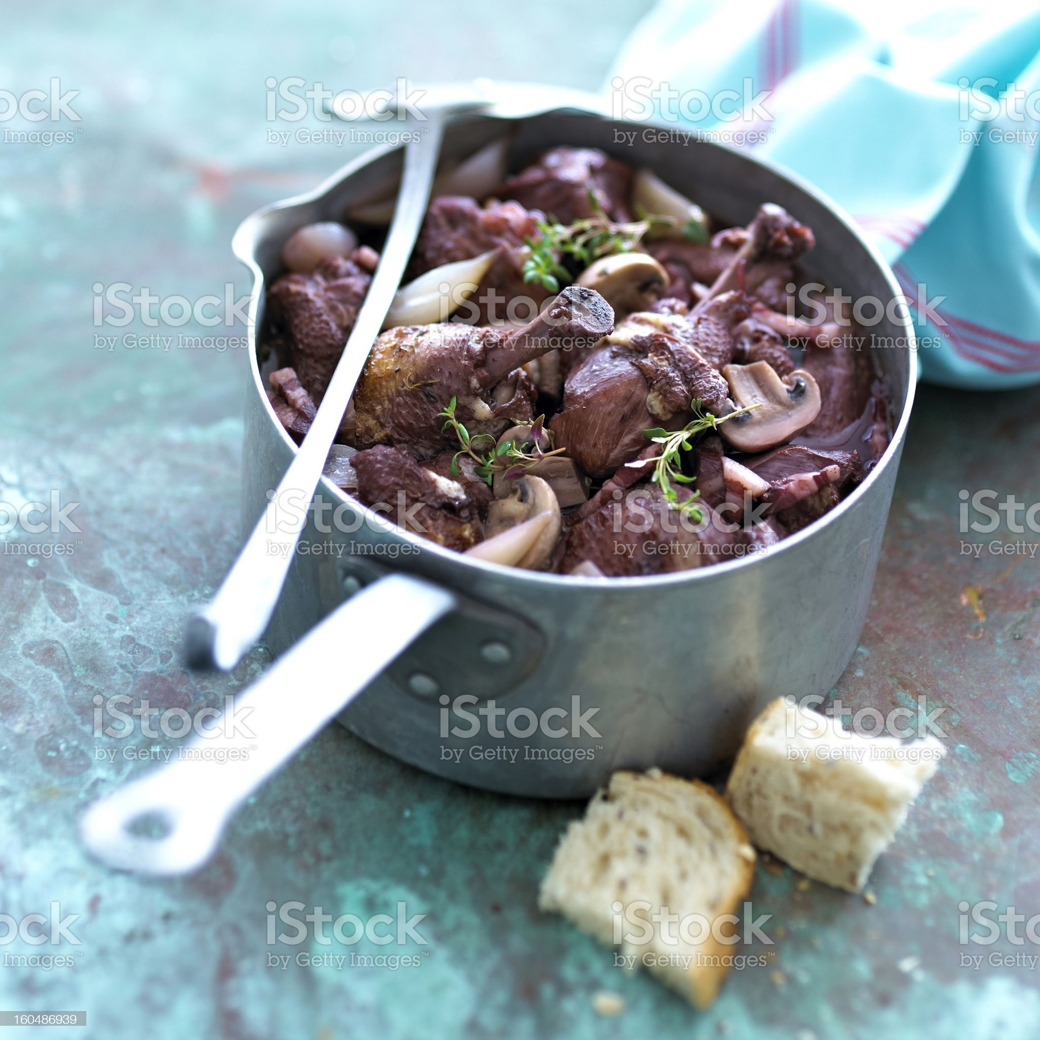 Coq au vin royalty-free stock photo