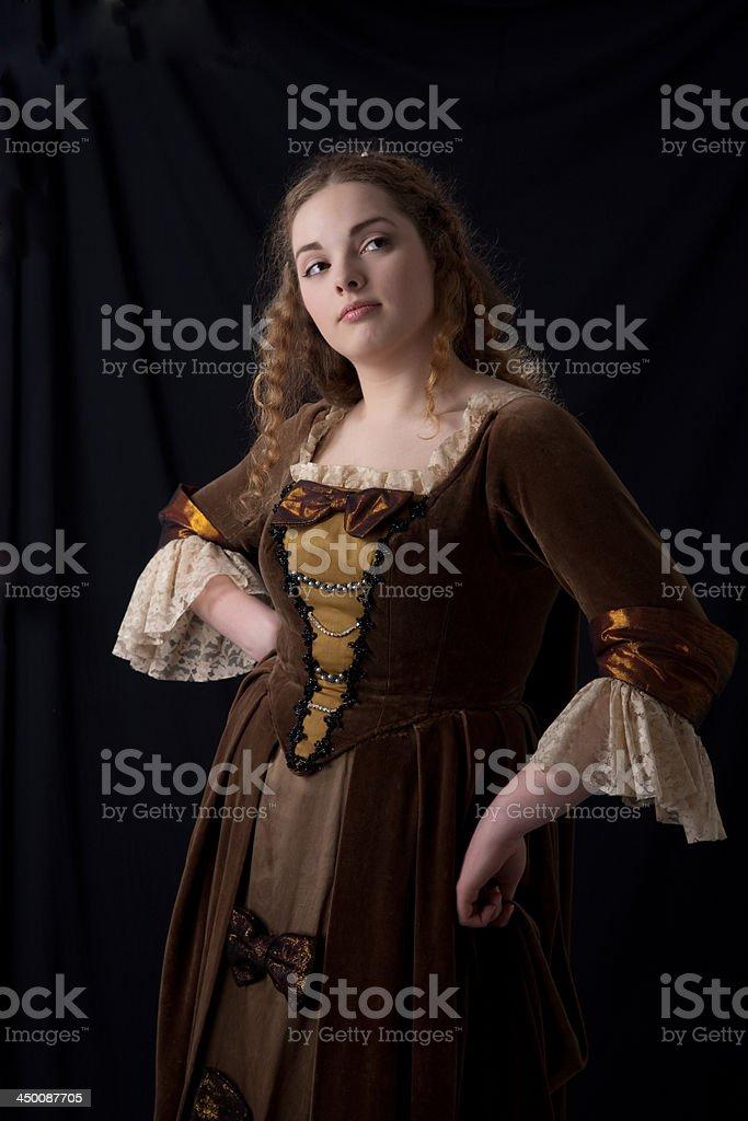coquette renaissance portrait stock photo