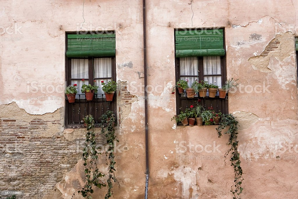 Coquettish window, Granada, Spain stock photo