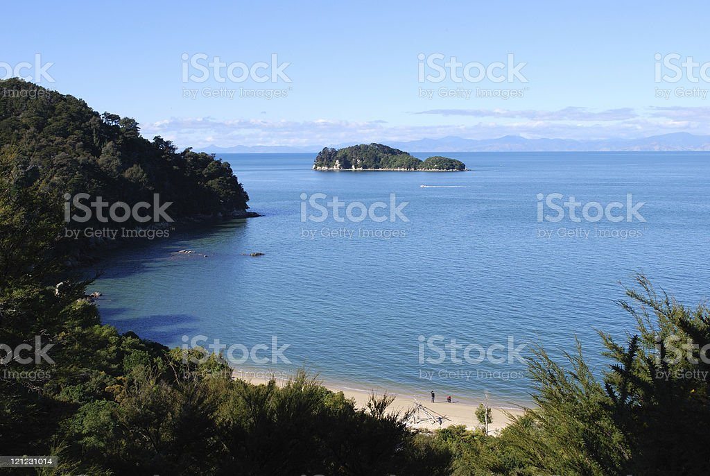 Coquille Bay, Abel Tasman, New Zealand royalty-free stock photo