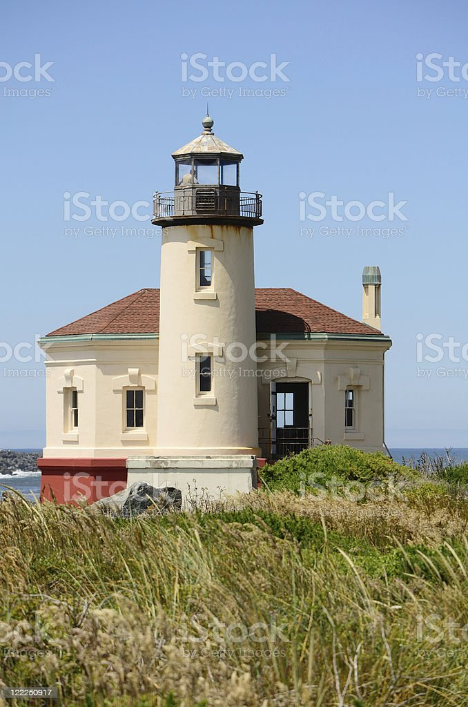 Coquille Lighthouse stock photo