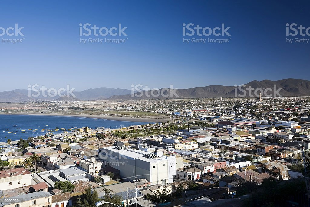 Coquimbo from above. Chile stock photo