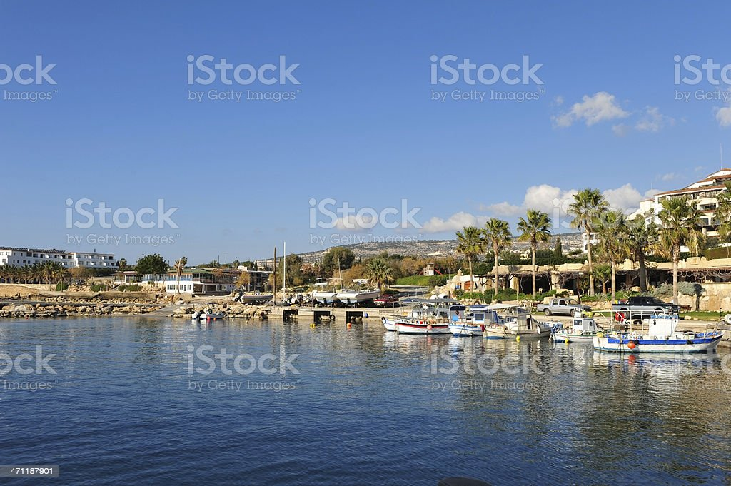 Coral Bay Harbour, Paphos, Cyprus stock photo