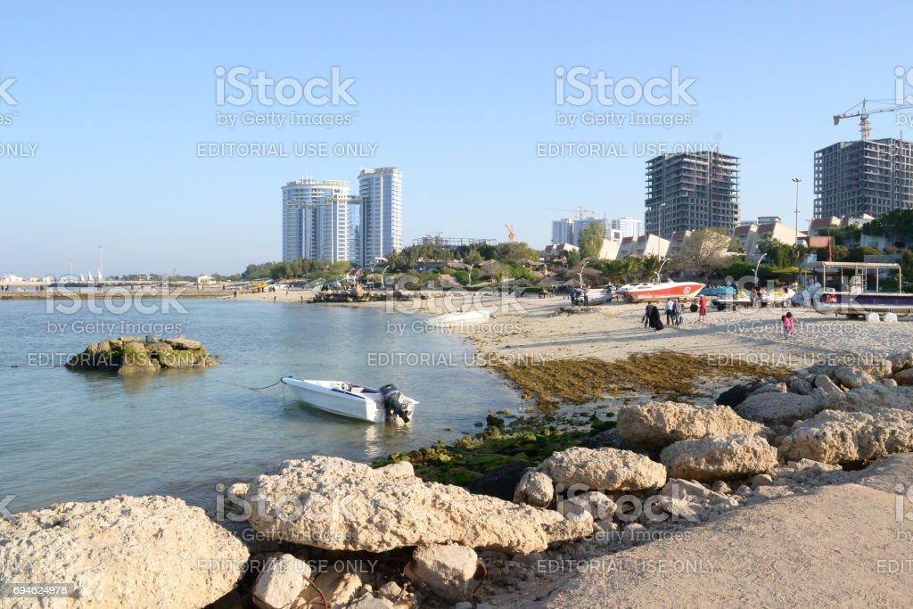Coral Beach Park stock photo