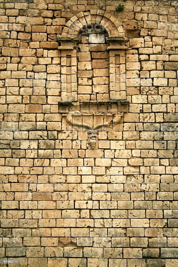coral block wall background paoay philippines stock photo