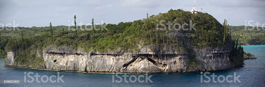 Coral Island Panorama stock photo