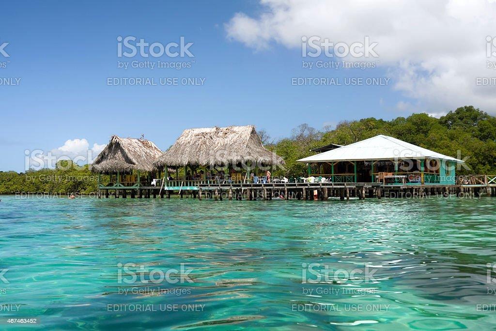 Coral Key in Bastimentos island, Panam?. Caribbean Sea. stock photo