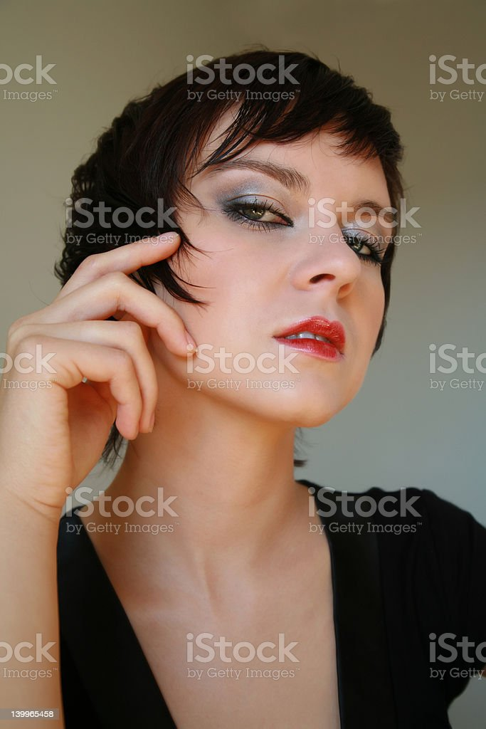 coral lips stock photo