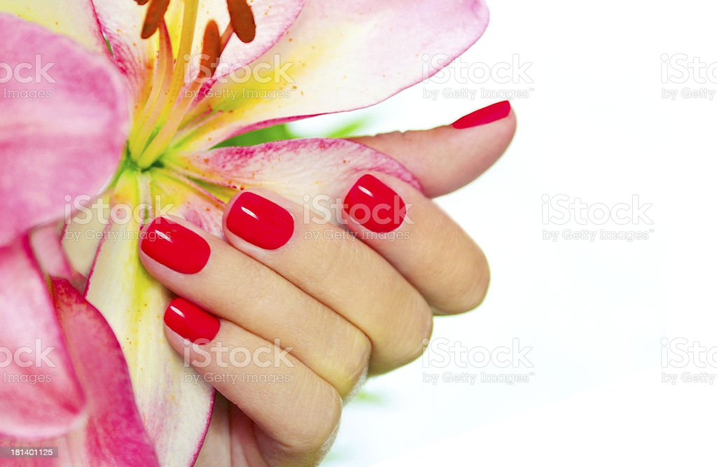 Coral nails. stock photo