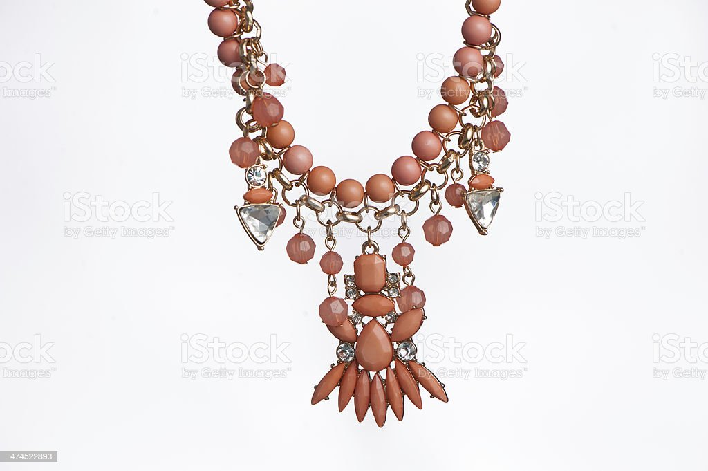 Coral Necklace Closeup royalty-free stock photo