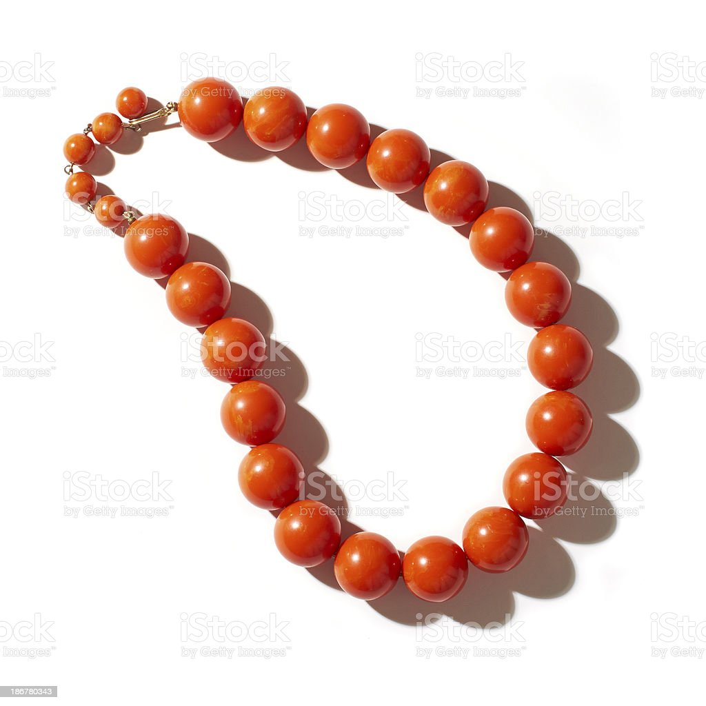 Coral Necklace royalty-free stock photo