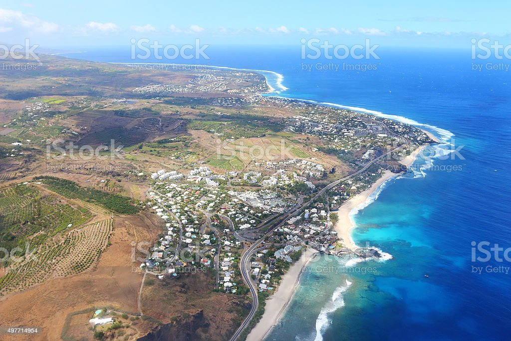 Coral reef on Reunion Island. stock photo