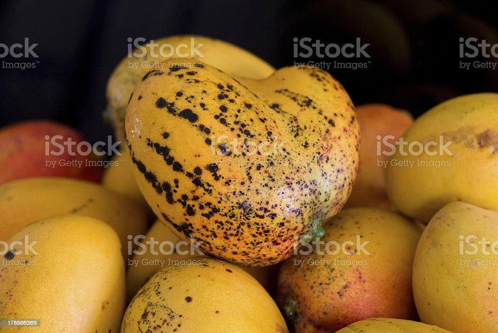corazon de mango stock photo