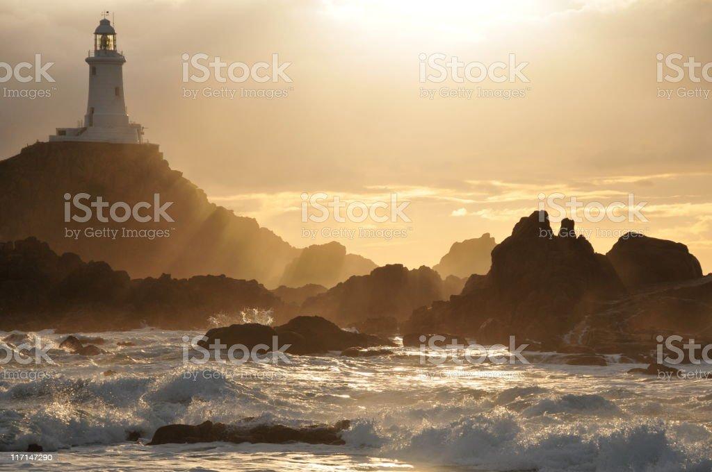 Corbiere Lighthouse,Jersey. royalty-free stock photo