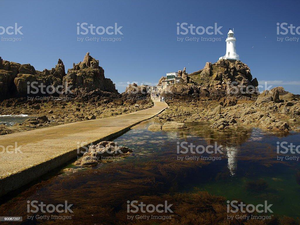 Corbiere Lighthouse,Jersey. stock photo