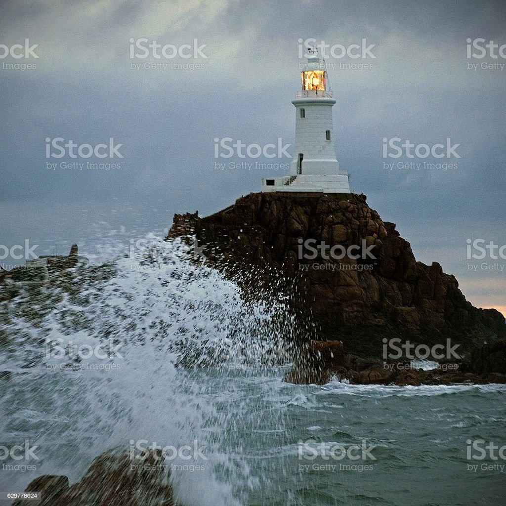 Corbierre Lighthouse stock photo
