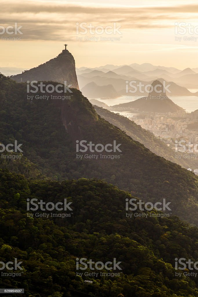 Corcovado and Sugarloaf stock photo