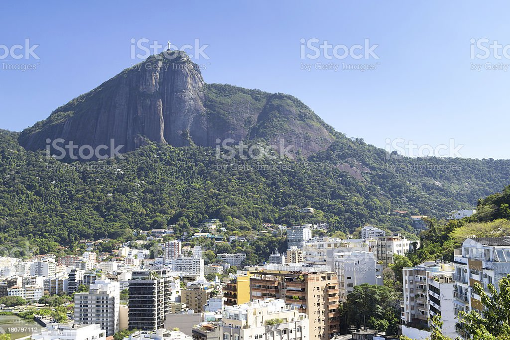 Corcovado mountain royalty-free stock photo