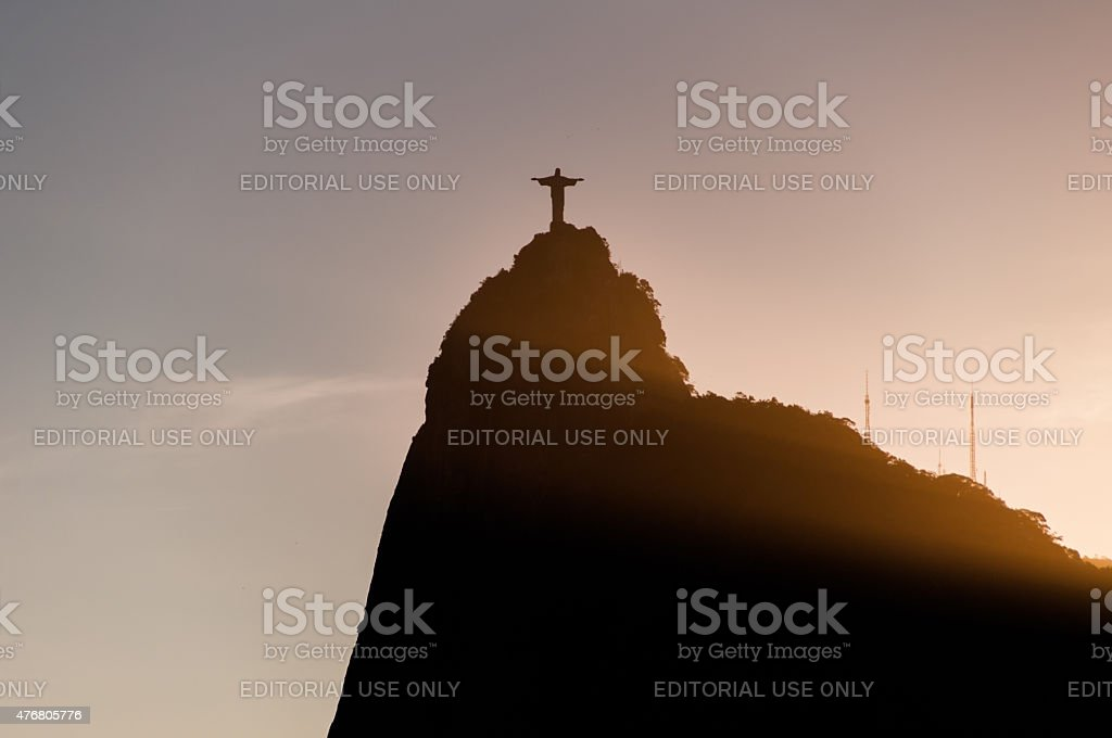 Corcovado Mountain with Christ the Redeemer stock photo