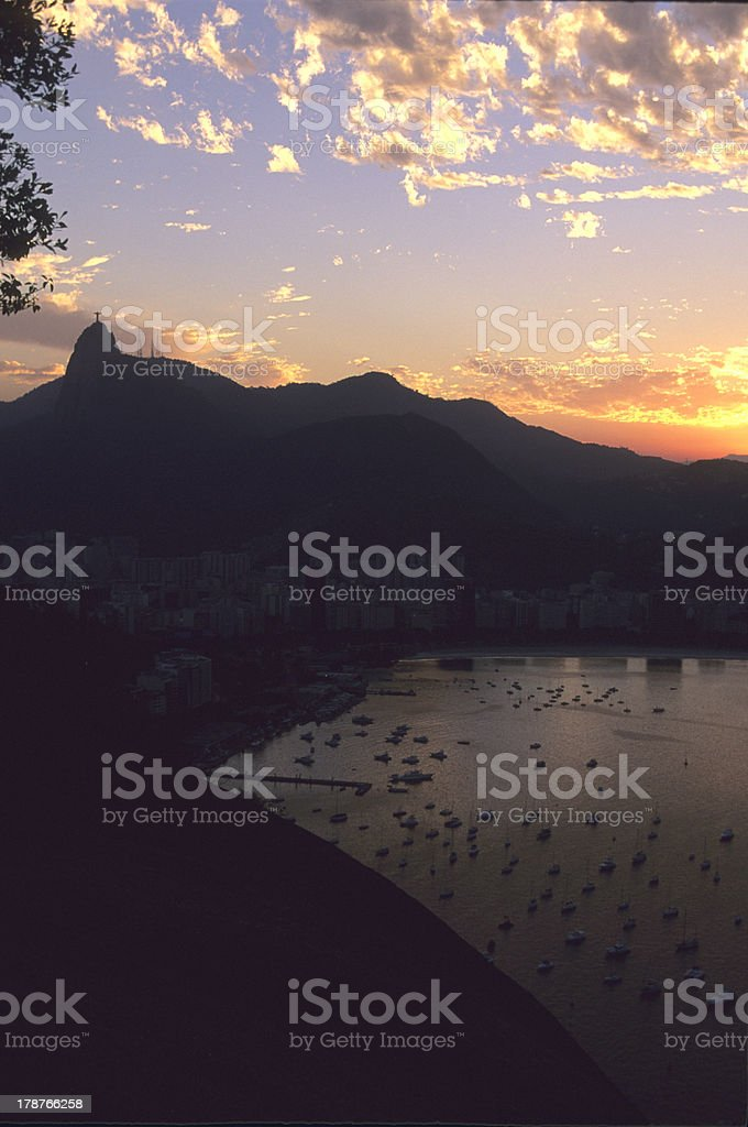 Corcovado Silhouette royalty-free stock photo