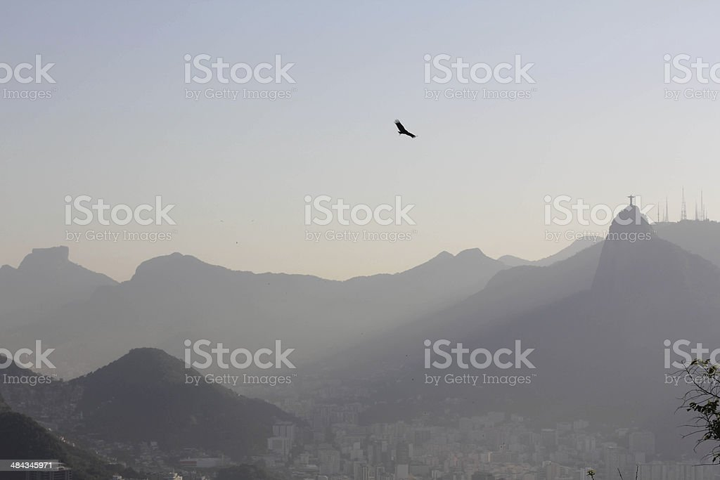 Corcovado view from the Sugar Loaf royalty-free stock photo
