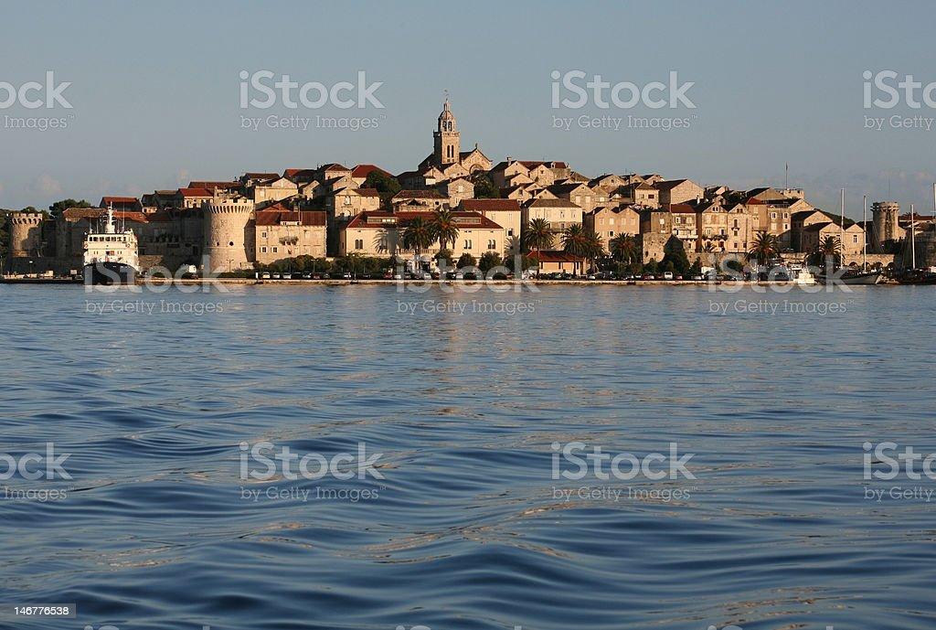 Corcula island city in Croatia royalty-free stock photo
