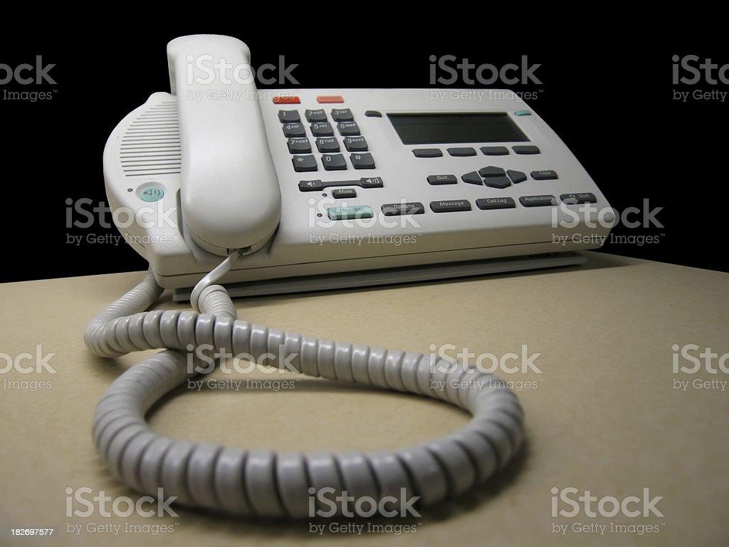 Corde Téléphone travail photo libre de droits