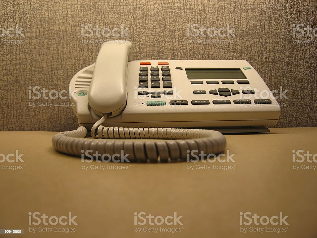 Corded Work Phone royalty-free stock photo