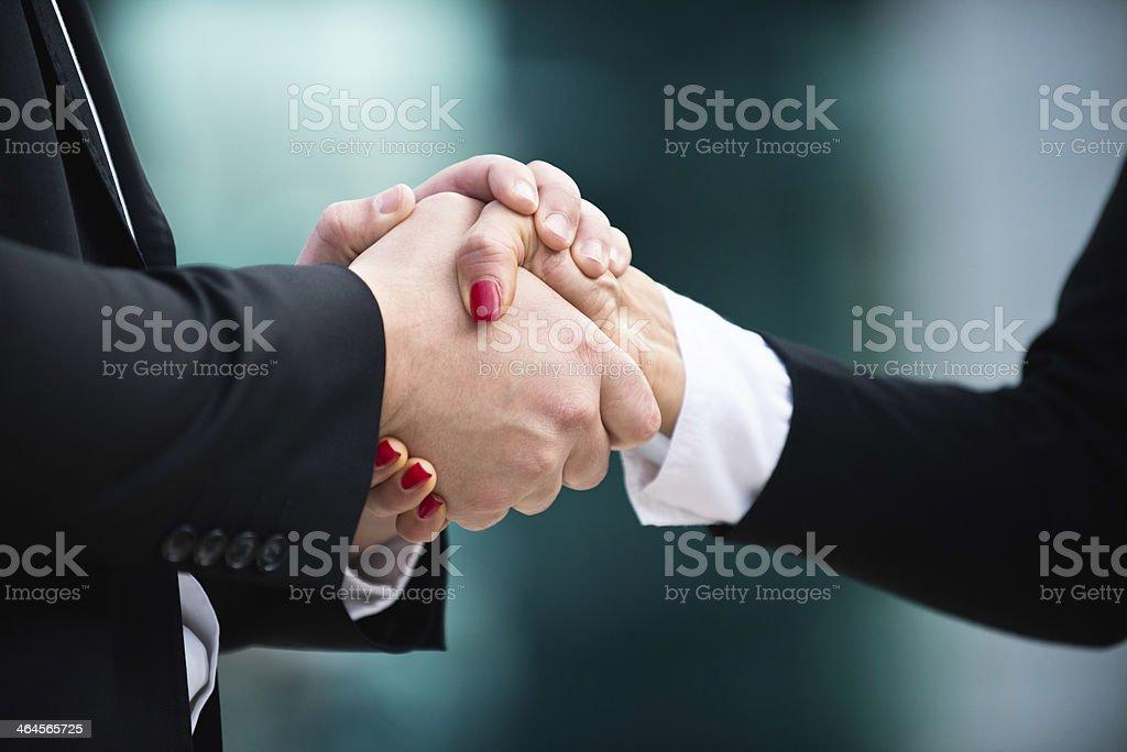 Cordial business handshake stock photo