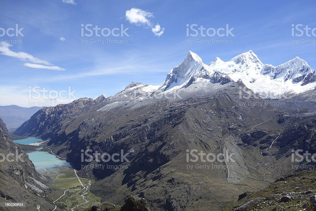 Cordilla Blanco, Peru 2 royalty-free stock photo