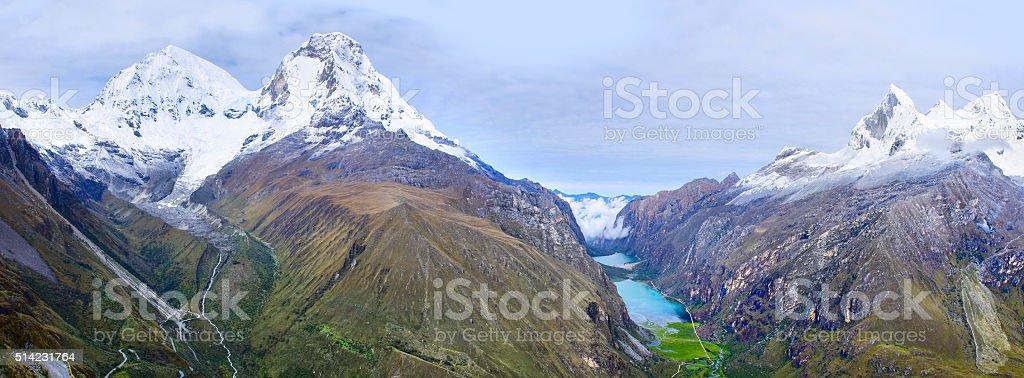 Cordillera Blanca - mountain Huascaran, Peru stock photo