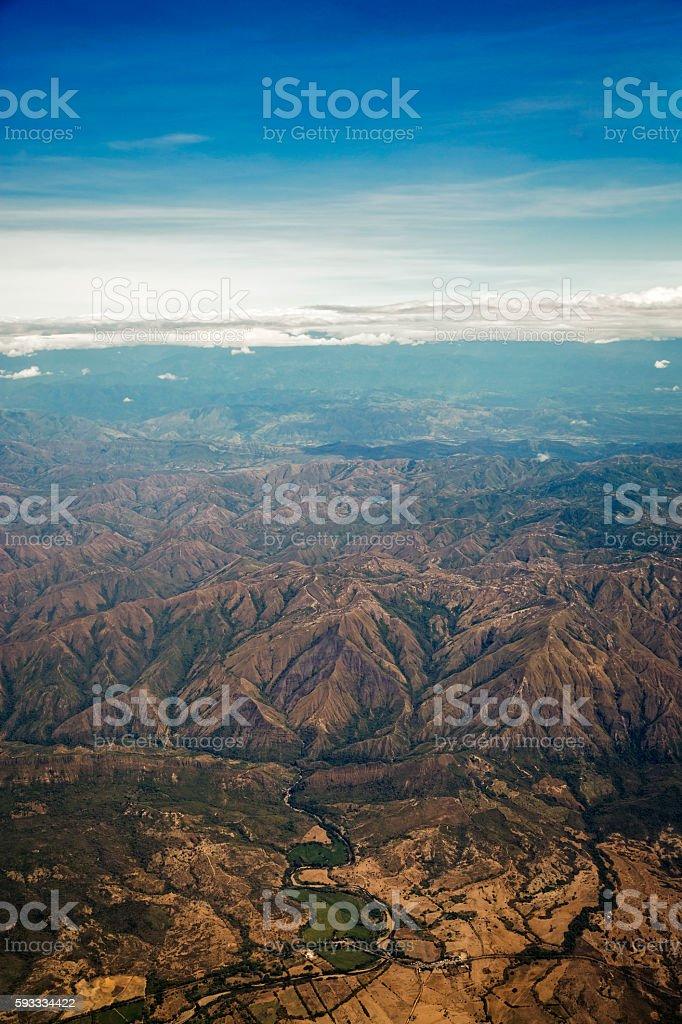 Cordillera Oriental de Colombia en Tolima stock photo