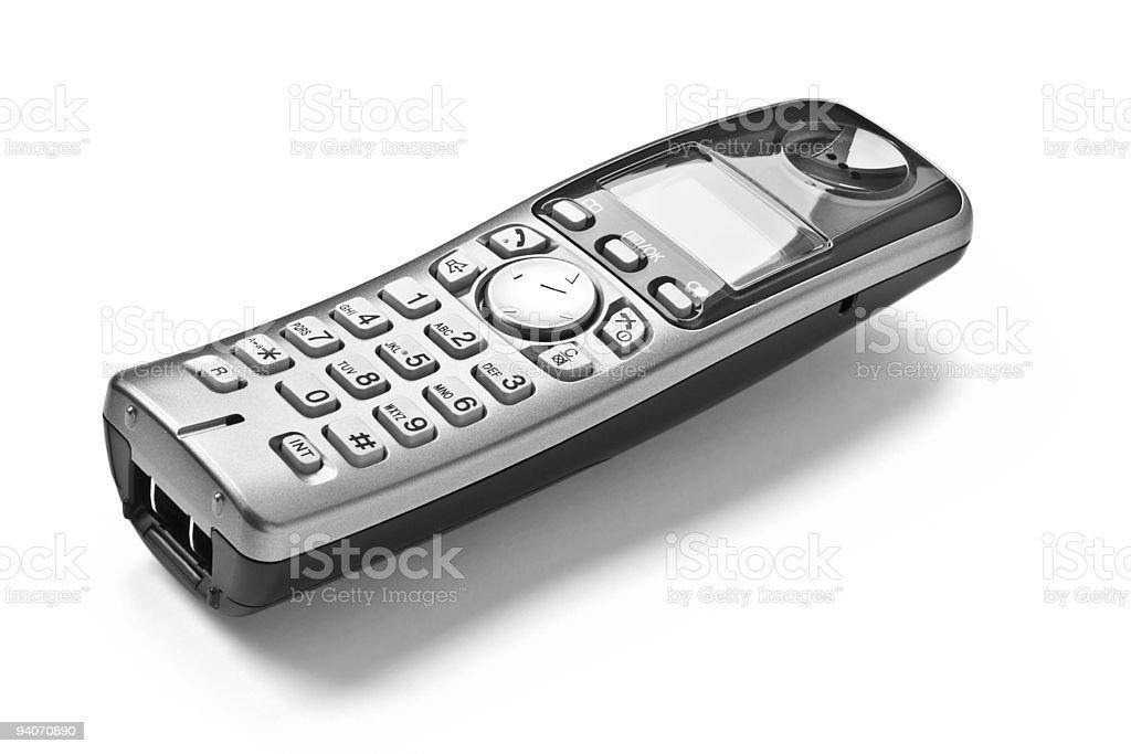 Cordless digital landline phone stock photo