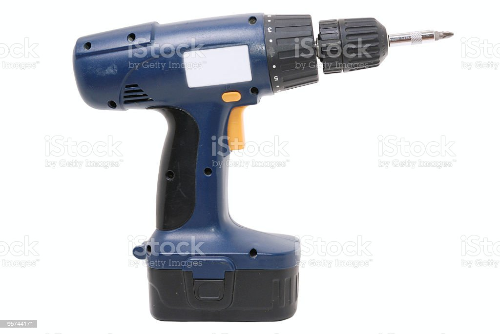 cordless dril royalty-free stock photo