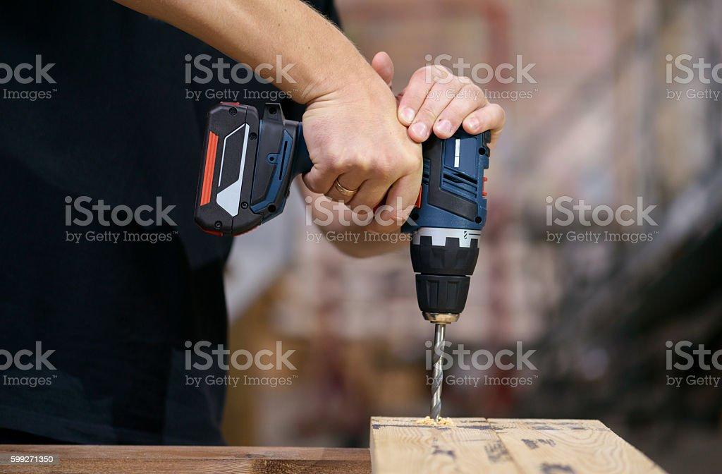 cordless drill battery, drill stock photo