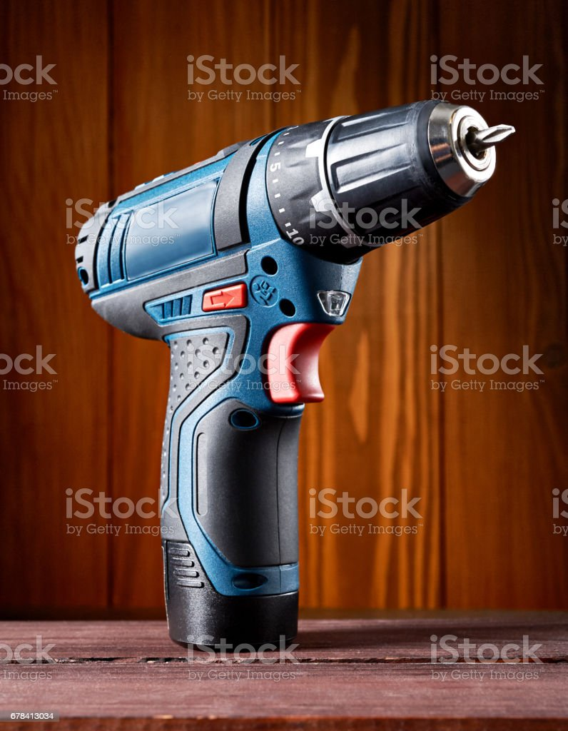 Cordless drill or screwdriver stock photo