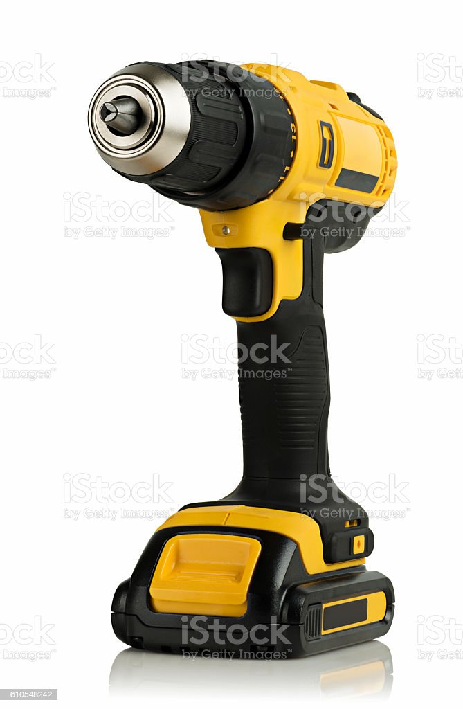 Cordless driver drill stock photo
