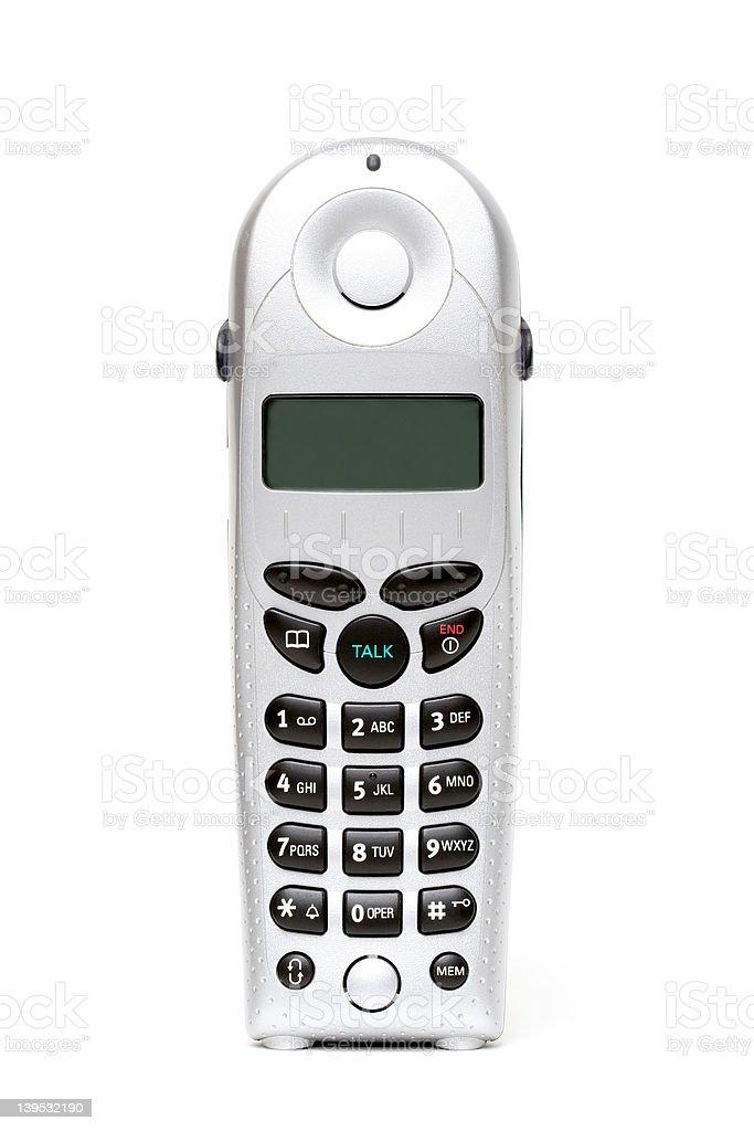 cordless phone over white royalty-free stock photo