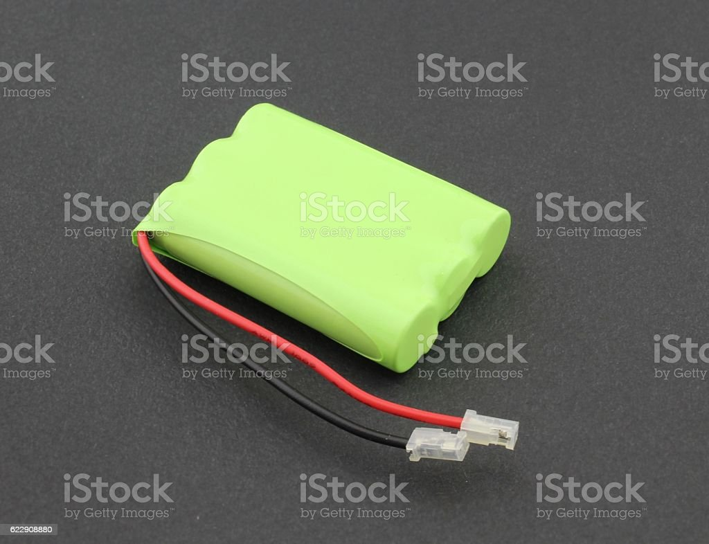 Cordless phone replacement battery stock photo