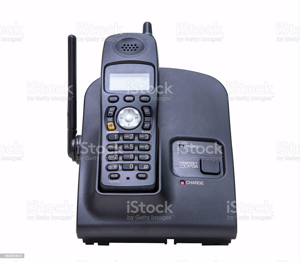 cordless phone set stock photo