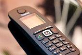 Cordless telephone - close up