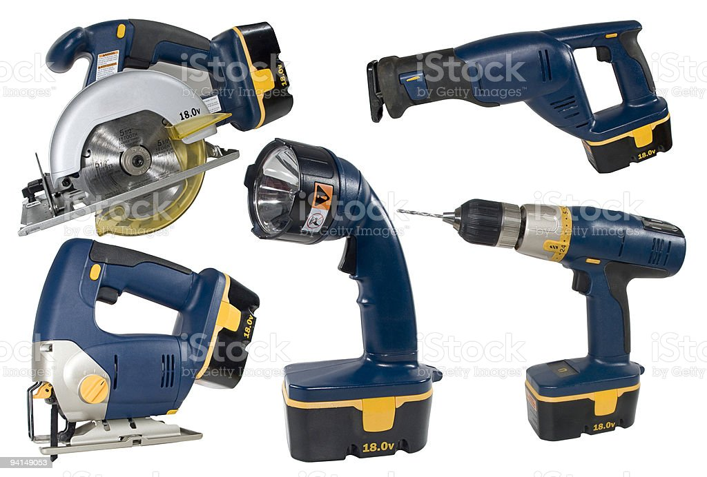 Cordless Tool Set stock photo