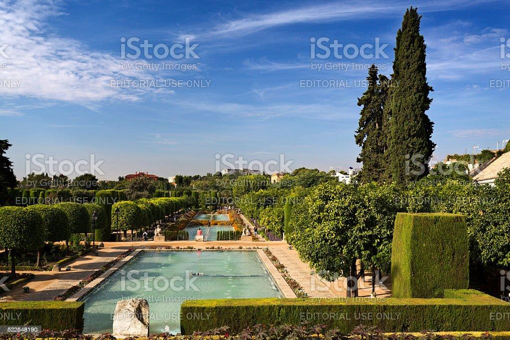 Cordoba Alcazar Gardens stock photo