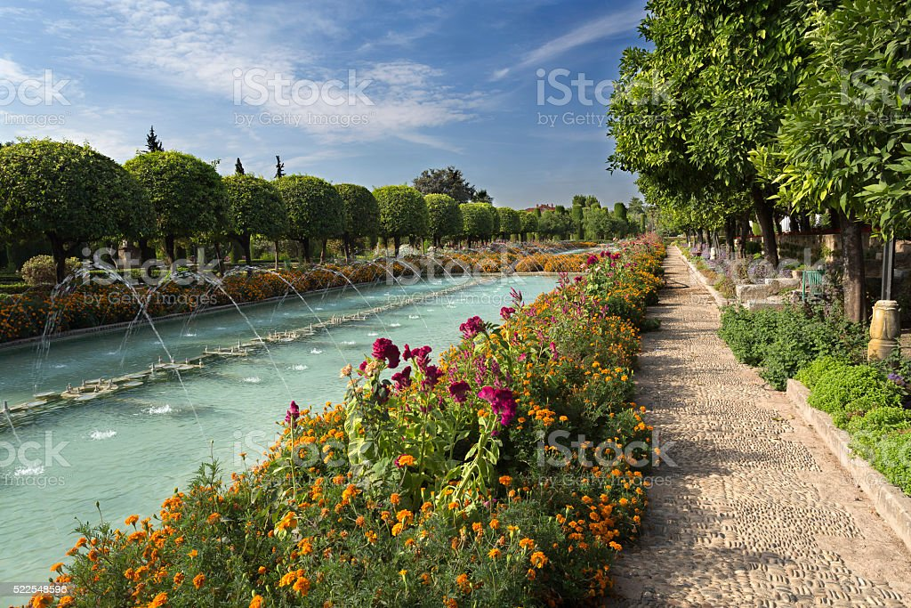 Cordoba Alcazar Gardens stock photo