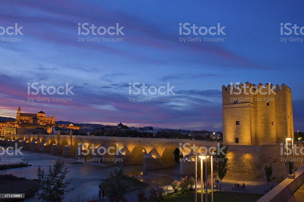 Cordoba at night, Spain royalty-free stock photo